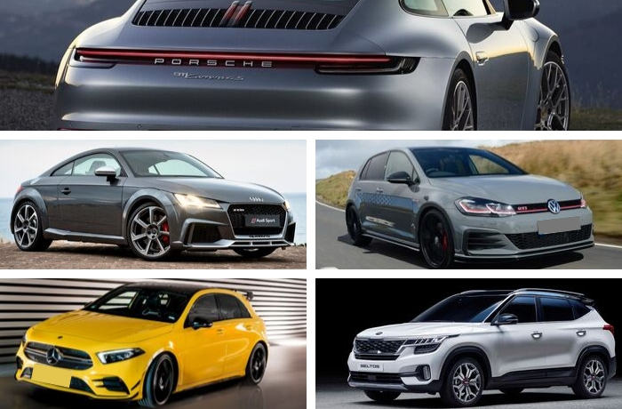 Top 5 New Cars Arriving Before The End 2019 to Australia Porsche Carrera 4S Audi TT Mercedes-Benz AMG A-35 Kia Seltos VW Golf GTI TCR